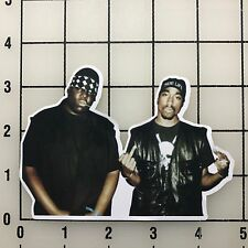"Notorious BIG & Tupac Shakur 5"" Wide Multi-Color Vinyl Decal Sticker - BOGO"