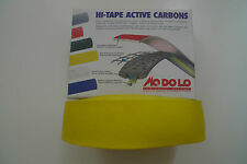 Vintage NOS Classic Modolo Yellow Active Carbon Bar tape and Plugs 4 Colnago
