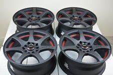 17 matt black Wheels Rims PT Cruiser Corolla Lancer Fusion Element 5x100 5x114.3