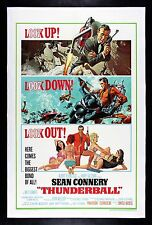 THUNDERBALL * CineMasterpieces 1965 JAMES BOND 007 VINTAGE ORIGINAL MOVIE POSTER