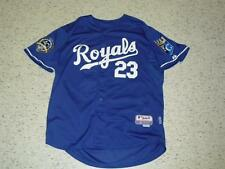 ZACK GREINKE jersey Kansas City Royals Majestic dark blue #23 Sewn On sz. 50