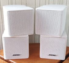2 Bose Jewel Double Cube Premium Speakers In White. Mint-Beautiful.