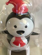 Solar Penguin Bobble Head Scarf and Red Cap Christmas Toy Winter Holiday