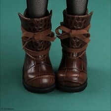 Dollmore 1/4 BJD MSD - Paver Ribbon Boots (Brown)