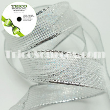"""Trico Metallic Gold & Silver Ribbon with Wire 5/8""""(16mm) x 10YDS - B4048"""