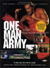 ONE MAN ARMY__Original 1994 Trade AD movie promo__JERRY TRIMBLE__MELISSA MOORE