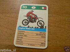 11 MOTO-CROSS 3D CAGIVA WMX125 MX KWARTET KAART, QUARTETT CARD,SPIELKARTE