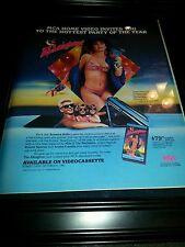The Allnighter Susanna Hoffs Rare Original Promo Poster Ad Framed!