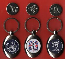 3 X SKINHEAD KEYRING s TROLLEY COIN oi SKA SCOOTER 1012/1013/2014
