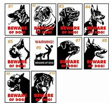 "New Beware of Dog ""10 Different to Choose from"" 8"" x 12"" Aluminum Metal Sign"