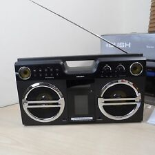 Bush Boombox Estéreo Retro Con Dock Para Ipod/Iphone 4-Negro-Ref.01708