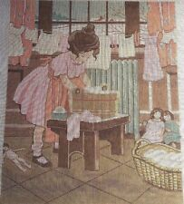 THEODORA B19 Limited Ed 801912 Washing Clothes Handpainted Needlepoint Canvas