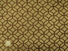 Modern Contemporary Geometric Circles  Brown and  Mocha Tan Upholstery Fabric