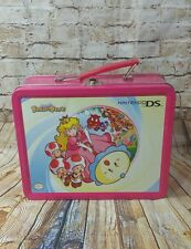 Nintendo DS Metal Tin Lunchbox Carry Storage Case Pink Super Princess Peach