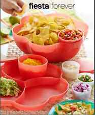 Tupperware Chip 'N Dip Bowls Set for Chips Salads Guava + Citrus Peelers New
