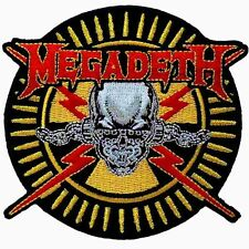 Megadeth Skull & Bullets Embroidered iron-on Patch NEW 3 3/4""
