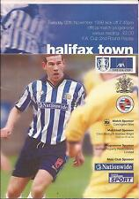 Football Programme - Halifax Town v Reading - FA Cup Replay - 1999