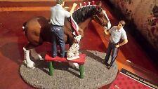 1997 Anheuser-Busch AB Budweiser Clydesdale Figurine   Braiding for Parade