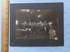 ca.1910 Cabinet Photo - Workmen in Shop/Warehouse - can't figure out the product