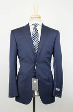 NWT CANALI 1934 Blue Houndstooth Wool 2 Button Suit Size 60/50 R Drop 7 $1995