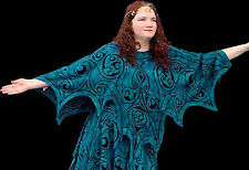 Celtic Dragon Faery Wings Tunic Top Quality Rayon Teal One size - 8 pieces