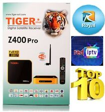 Tiger IPTV  Z400Pro with Free RED IPTV 12 months + Free 12 Months ROYAL IPTV