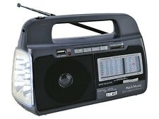 Supersonic SC-1082 AM/FM/SW 1-7 9-Band Rechargeable Radio +USB/SD +Flashlight