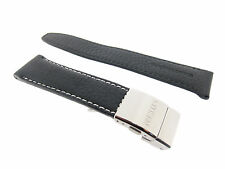 Citizen  Original  22mm Black Leather Genuine Watch Band 59-S50810 BJ7010