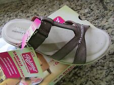 NEW SKECHERS CALI PILLOW TOPS SLIDE SANDALS WOMENS 5 BROWN CUSHIONED FREE SHIP