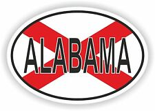 OVAL ALABAMA STATE WITH FLAG USA STICKER AUTO MOTO TRUCK LAPTOP BIKE TABLET CAR