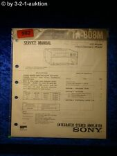 Sony Service Manual TA 808M Amplifier  (#0592)