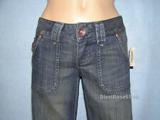 NEW Aeropostale Junior Girls Avery Wide Leg Low Rise Blue Jeans 1 / 2 R