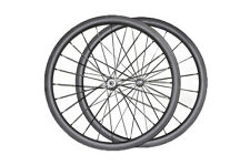 25mm wide carbon wheels 38mm depth clincher road bicycle basalt surface 3k matt