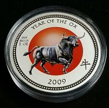 2009 PITCAIRN ISLANDS YEAR OF THE OX 1 oz .999 SILVER COIN FREE SHIPPING!