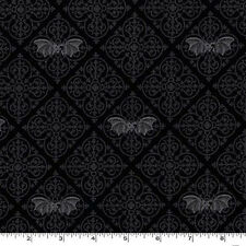 By YARD-Gothic Bats Black Halloween Fabric Michael Miller CX6638-GRAY-D