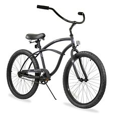 "Firmstrong Urban Man Beach Cruiser Bicycle, Matte Black, 24"" / 1-Speed - New"
