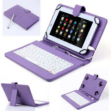 "8"" Leather Case Micro USB Keyboard Cover For Universal 8 inch Android Tablet PC"