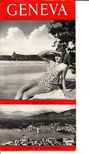 """Geneva Switzerland """"For Your Holiday"""" Excursions Vintage Brochure"""