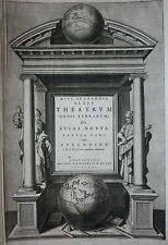 ORIGINALE ANTICO ATLANTE frontespizio, Theatrum ORBIS TERRARUM, ATLAS Novus, 1640