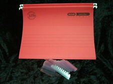 Red Verticfile Ultimate A4 Suspension Files 100331154 15mm Pk of 24 Elba 240gsm