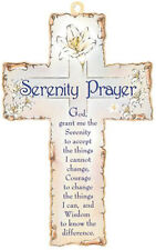 SERENITY PRAYER VERSE CROSS - GOD GRANT ME - STATUES CANDLES PICTURES LISTED