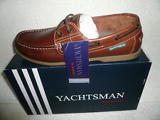 MENS GENUINE BROWN LEATHER YAUCHTSMAN DECK BOAT SHOE BRAND NEW SIZE 8 UK