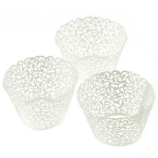 Latest 100 Filigree Little Vine Lace Laser Cut Cupcake Wrapper Liner Baking Cup