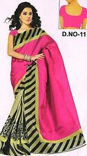 Semi formal office party wear Bagalpuri sari cotton silk mix designer saree