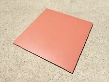 """NEW 1/4"""" Commercial High Temp Silicone Rubber Sheet 8"""" x 8"""" - 40 Duro +/- 5"""