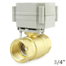 "Brass Motorized Ball Valve DC12V/24V CR5-01 3/4"" DN20 2 Way Electrical Valve"