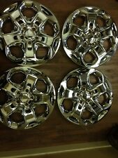 "4-Ford Fusion 17"" Hubcaps Hub caps Wheelcovers Chrome 2010 2011 2012 wheel cover"