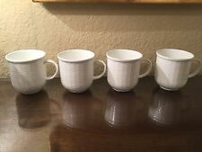 NWT Set of FOUR (4) Wedgwood Nantucket Basket Beaker Mugs - new with tags