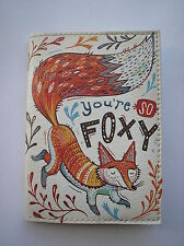 "PASSPORT Cover Case "" FOXY"" Travel Wallet  Faux leather  NEW"