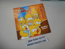 Calendario concentre The Simpsons 2012 familias-Planificador Panini/bongo Matt explosivos